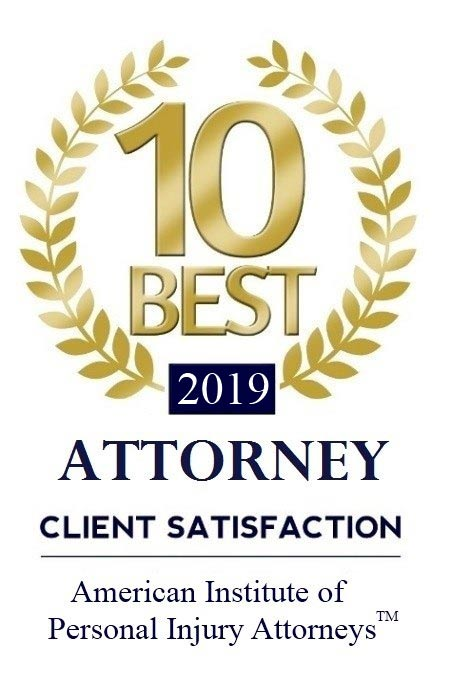 American Institute of Personal Injury Attorneys - 10 Best 2016